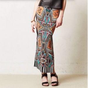 Anthro Maeve Moorea Geo Print Maxi Skirt Size L